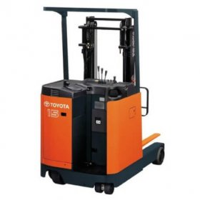 Ride-on reach truck / electrical / handling / 4-wheel